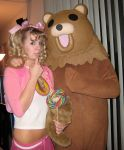 Pedo Bear And His Latest Catch... Looks Like She Needs Tossed Back