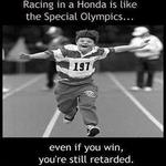 racing in a honda