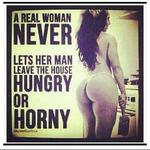 a real woman never