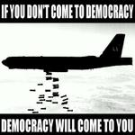 in mother 'merica, Democracy comes to you