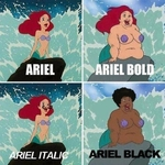 The many styles of ariel