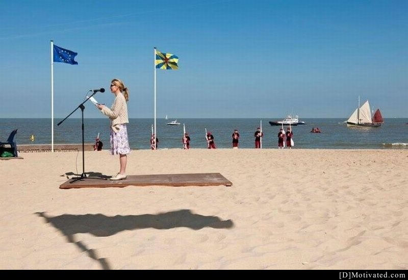 The Floating Speech By The Beach