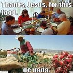 thank Jesus for the food we are about to eat