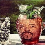 would you like some ice cube in your ice t?
