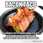 the infamous bacon taco