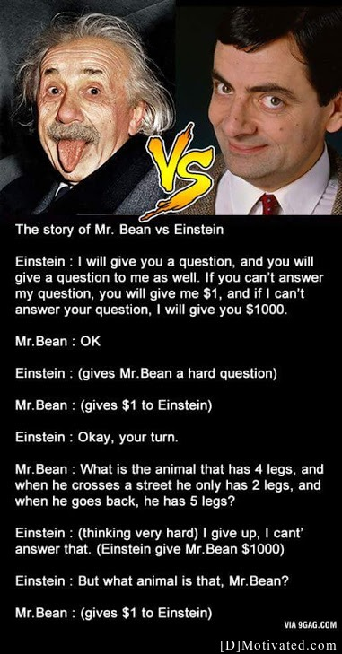 Mr. Bean Asking The Tough Questions
