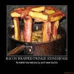 bacon wrapped twinkie stonehenge