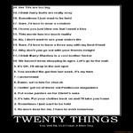 twenty things