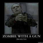 zombie with a gun